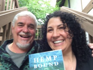 "Greg Flavall, Hemp Technologies Global and Joy Beckerman Maher WAHIA supporting Doug Fine's Book ""Hemp Bound"""