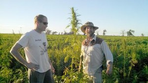 Doug Fine with first legal American hemp farmer this century, Ryan Loflin of Colorado Source