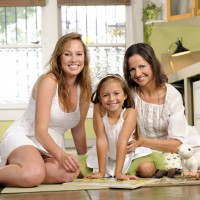 Co-Founder, Theresa Ruiz-Hellings with her daughters Elena and Juliet.